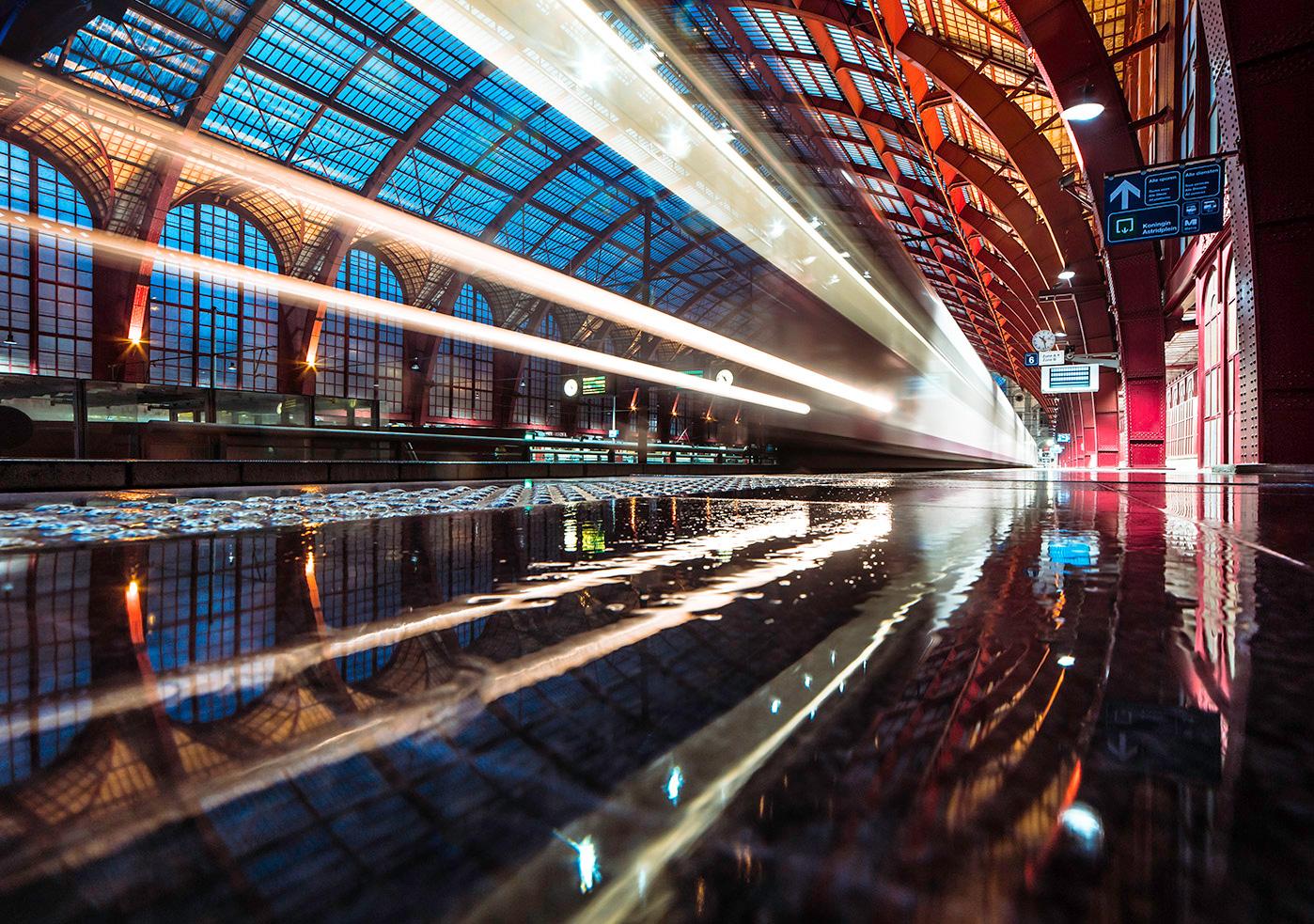 Centraal Station In De Regen