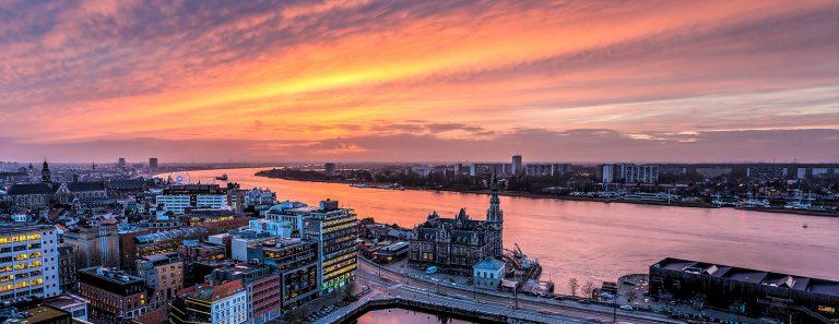 Skyline Antwerpen Schelde